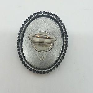 GASOLINE GLAMOUR Jewelry - Rhinestone skull bones cocktail ring sample